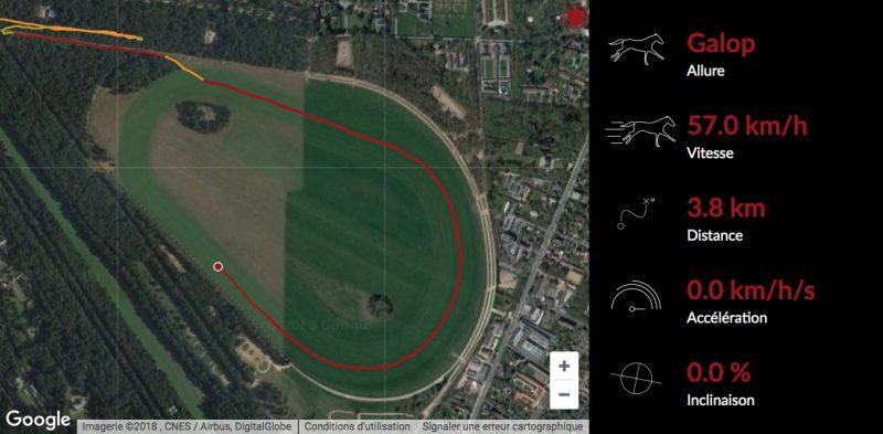 vitesse en course et à l'entraînement, map equimetre