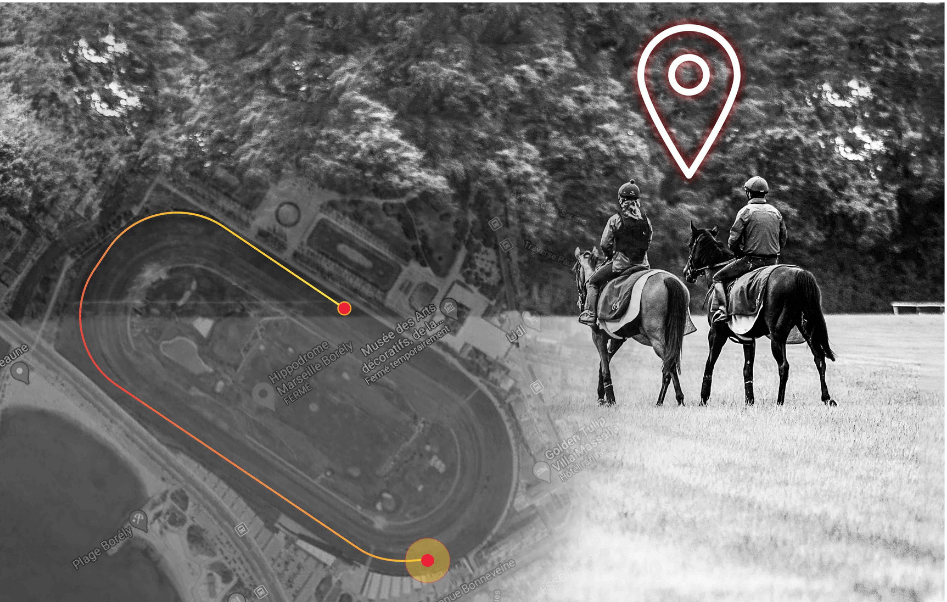 GPS vitesse cheval de course equimetre